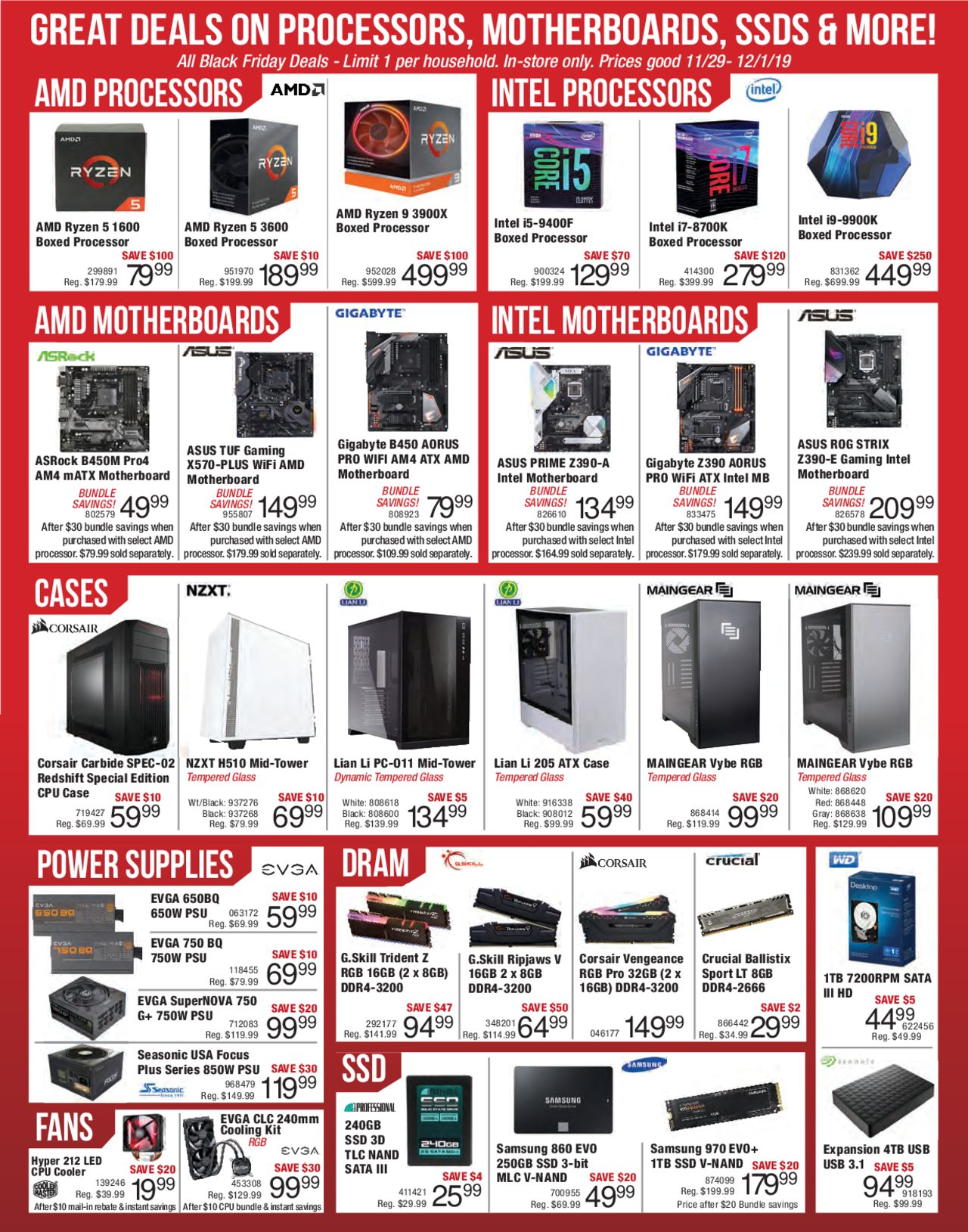 Micro Center Weekly Ad Micro Center Black Friday 11 29 2019 12 01 2019